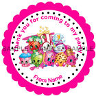 Personalised Shopkins stickers, 3 Sizes - For Sweet Cones etc Ref 01-05
