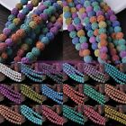 Lot Bulk 8mm Natural Volcanic Lava Rock Gemstone Round Spacer Loose Stone Beads
