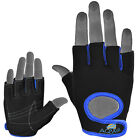 AQWA Weight Lifting Fitness Gloves Gym Training Glove Mesh Workout Black / Blue
