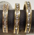 WOMEN'S ETERNITY RING 18KGE & 14KT GOLD TONE BAND w CRYSTALS SIZES:7,6 BRAND-NEW