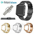 Genuine Stainless Steel Strap Metal Wrist Watch Band For Fitbit Blaze Watch