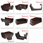 Polypipe 112mm Square Rainwater Gutter fittings in Brown