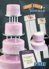 PME Easy Cut Cake Dowels Hollow Pillars Rods 12 or 16  inch bulk pack of 100