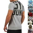 Men workout Gyms Stringer T shirt Bodybuilding Fitness Singlets Short Sleeve Tee