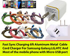 Charging / Sync Kits 6ft Cords + Dual 3.1 Wall Charger for iPhone 7/6/5_ipad