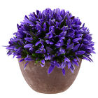 Artificial Grass Flowers Plants In Pot Home House Office Indoor Outdoor Decor AA