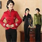 Chinese-style costume women's silk embroidery jacket coat size: S to 4XL