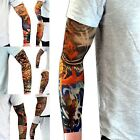 Nylon Stretch Fake Tattoo Sleeves Arms Fancy Dress Party UK 11 Vibrant Designs