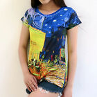 ATMZ Vincent Van Gogh Cafe Terrace at Night Lady Top T-Shirt All Over Art Print