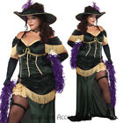 CL641 Womens Plus Saloon Madame Can Can Burlesque Wild West Costume