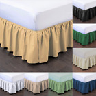 "1PC BEDDING DRESSING BED PLEATED SKIRT WITH OPEN CORNERS 14"" INCH DROP SIZE KING image"