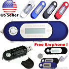 Portable USB MP3 Music Player Digital LCD Screen Support 32GB TF Card + FM Radio