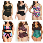 Women Push Up Padded Plus Size Bikini Set swimsuit Bathing High Waist swimwear