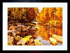 PAINTING LANDSCAPE RIVER TEES TEESDALE ENGLAND SCENIC FRAMED PRINT F12X4845