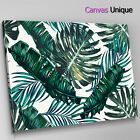 AB1287 Green leaves large modern  Abstract Canvas Wall Art Framed Picture Print