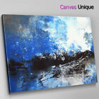 AB1460 black sky blue cloud Abstract Canvas Wall Art Framed Picture Print