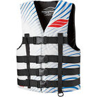 New Mens Guys Slippery Hydro Nylon Vest Life Jacket PWC Jet Ski White Blue XS-4X