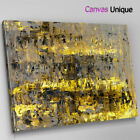 AB1581 yellow grunge contemporary Abstract Canvas Wall Art Framed Picture Print