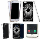 360° Silicone gel full body Case Cover for many mobiles - black cancer