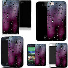hard durable case cover for most mobile phones - purple drizzle droplet