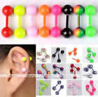 2x Steel Candy Color Cute Ear Cartilage Helix Tragus Bars Stud Barbell Earrings