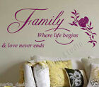 WALL QUOTES  Family  WALL DECAL STICKERS HOME WALL ART WALL QUOTE STICKERS  V82
