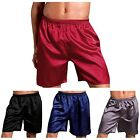 Newly Men Pajamas Knee Length Short Pants Loose Comfy Summer Shorts Solid Color