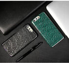 FIERRE SHANN Crocodile Real Leather Magnetic Holder S8 P10 Plus Back Cover Case