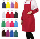 16 Color Women Solid Cooking Kitchen Restaurant Bib Apron Dress with Pocket Gift
