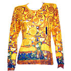 GUSTAV KLIMT Tree of Life GOLD PAINTING LS T-SHIRT NOUVEAU FINE ART PRINT M L XL