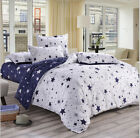 Navy White Stars Bedding Quilt Cover Duvet Cover Set Twin Queen King Size