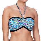 Freya Swimwear Folklore Underwired Bandeau Padded Bikini Top Multi 3811