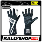 FIA OMP FIRST EVO Gloves Super Race Rally Motorsport Black White Driving 8856