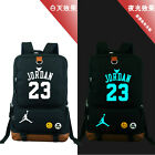 Jordan 23 Basketball Printed Luminous Shoulder Backpack Book Bag School Bag Chic