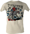 Flash Gordon Comic Collage Adult T Shirt Classic 80's Movie