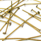 200 x 40mm Plated Headpins HALF HARD Jewellery Making Findings Crafts A009