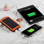 Portable Charger Power 10000mAh Colorful Bank Outdoor Solar Dual USB For phone