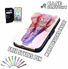 Aztec Tribal Tattoo Mandala Rainbow Elephant Art - Leather Flip Phone Case Cover