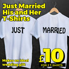 Just Married T Shirts  Loosefit - Ideal wedding gift for the honeymoon