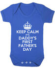 Keep Calm It's Daddy's First Father's Day Baby Vest. New Born Baby. Father's Day