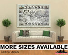 old map of the united states - Wall Art Canvas Picture Print - Vintage Antique Old Map of The World 3.2