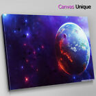AB240 trippy space earth planet Abstract Canvas Wall Art Framed Picture Print
