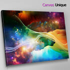 AB360 trippy colour space galaxy Abstract Canvas Wall Art Framed Picture Print