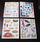 CREATIVE MEMORIES STICKERS CHRISTMAS DINNER CLOTHES  YOU PICK!