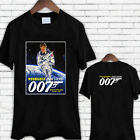 James Bond Moonraker Tribute Roger Moore 007 Movie Men's Black Tee Shirt TShirt $12.87 CAD on eBay