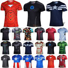 Men Marvel Avengers Super Hero T-Shirt Compression Base Layer Cycling Jersey Top