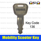 136 Mobility Scooter Key for Wheeltech Prism, Neo, Rio, Drive Medical, Pride.