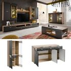 Wall Unit Media TV Stand LED Modern Living Room Furniture Entertainment Center