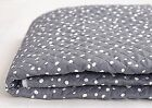 Simple bubble grey 100% Cotton Ready quilted Fabric spots dots Pre-quilted HQ21<