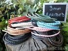 3mm Braided Thonging 2m length 10 Colours Available Leather Craft Jewellery Cord